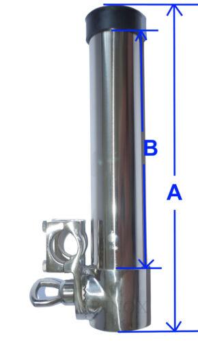 Porte Canne Pour Tube 25//30mm Orientable inox 316 A4 à Pèche avec Etrier