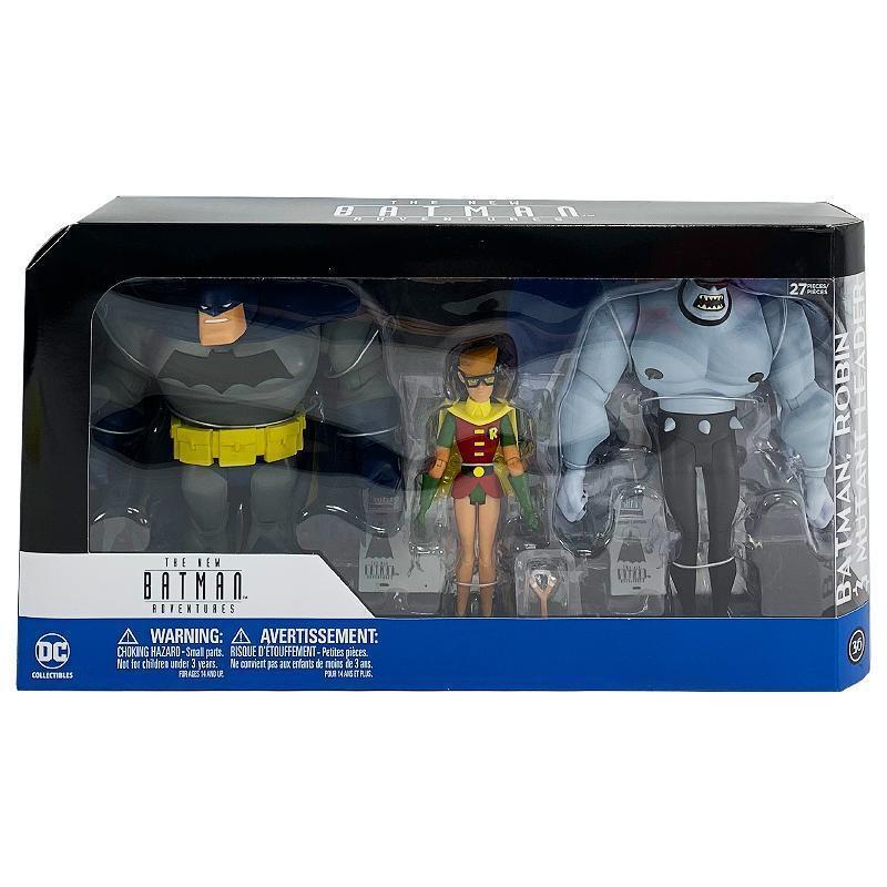 Dc Comics Batman Adventures Mutante 3PK Batman Robin Líder Figura Figura Figura de Acción Set 3584a5