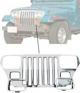 1987-1995 Jeep Wrangler Stainless Steel Grille Overlay Kit