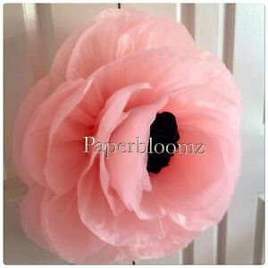 Details About Paperbloomz Large Paper Peony Tissue Paper Flowers Wall Decorations