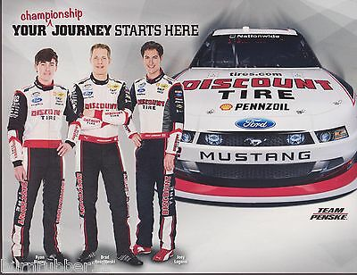 "2012 BRAD KESELOWSKI /""DISCOUNT TIRE/"" #22 NASCAR NATIONWIDE SERIES POSTCARD"