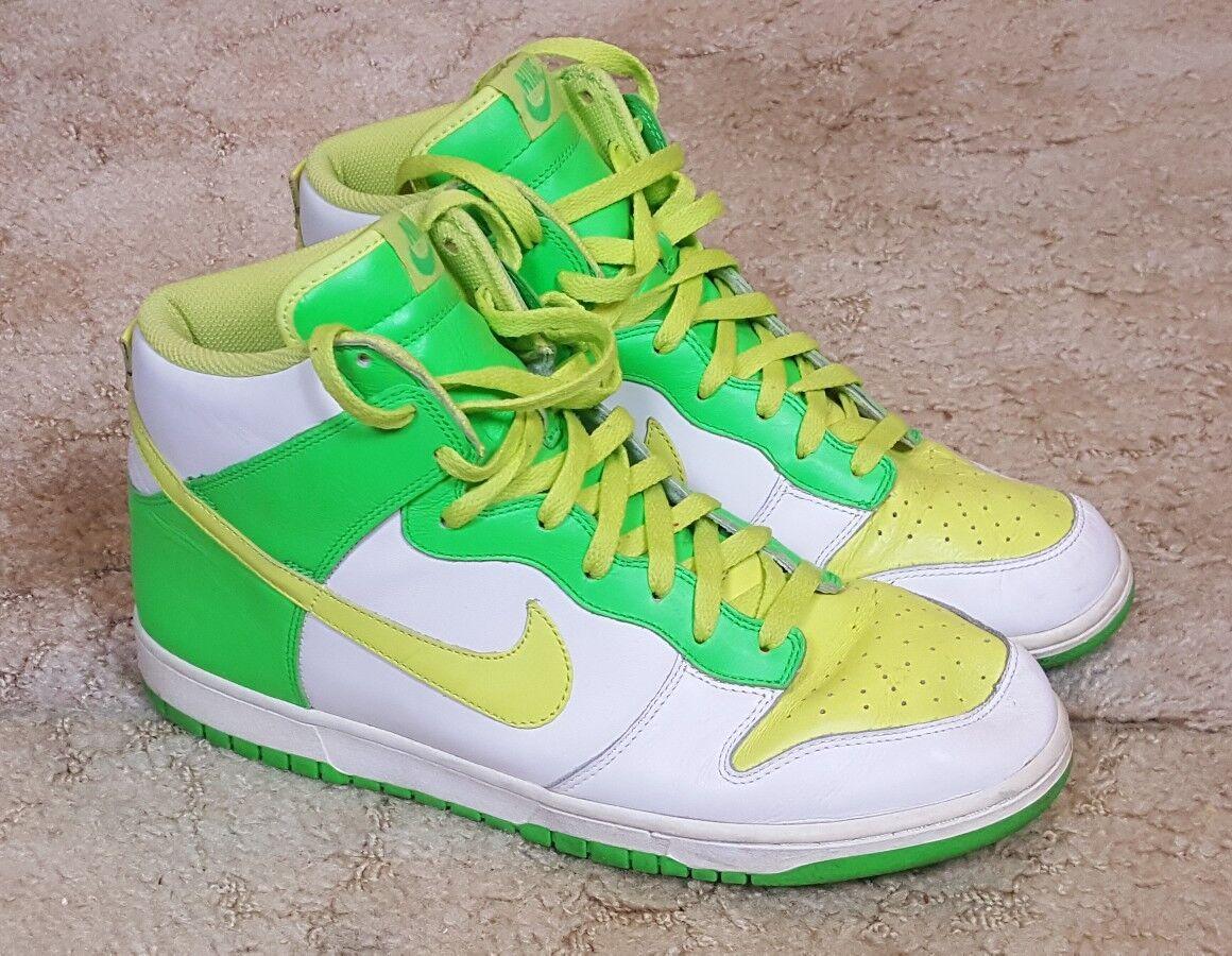 Nike Dunk High Mens Sneakers Sz 13M White Lemon Chiffon Radiant Green 309432-171 Seasonal price cuts, discount benefits