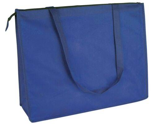 """20/"""" Extra Large Recycled Eco Friendly Grocery Shopping Tote Bag Book Bags Zipper"""