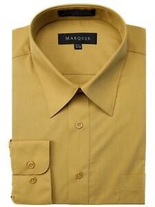 Marquis Men/'s Long Sleeve Regular Fit Dress Shirt