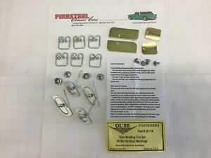 1955-Chevy-Chevrolet-20-116-Bel-Air-DOOR-MOLDING-CLIP-Set-Both-Sides-of-Car