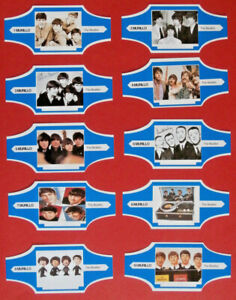 BEATLES-FULL-SET-of-10-CIGAR-bands-from-034-MURILLO-034-cigars-Netherlands