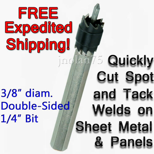 "3//8/"" Double Ended Rotary Spot Weld Welding Cutter 1//4/"" Hex Shank WELDER CUT OFF"