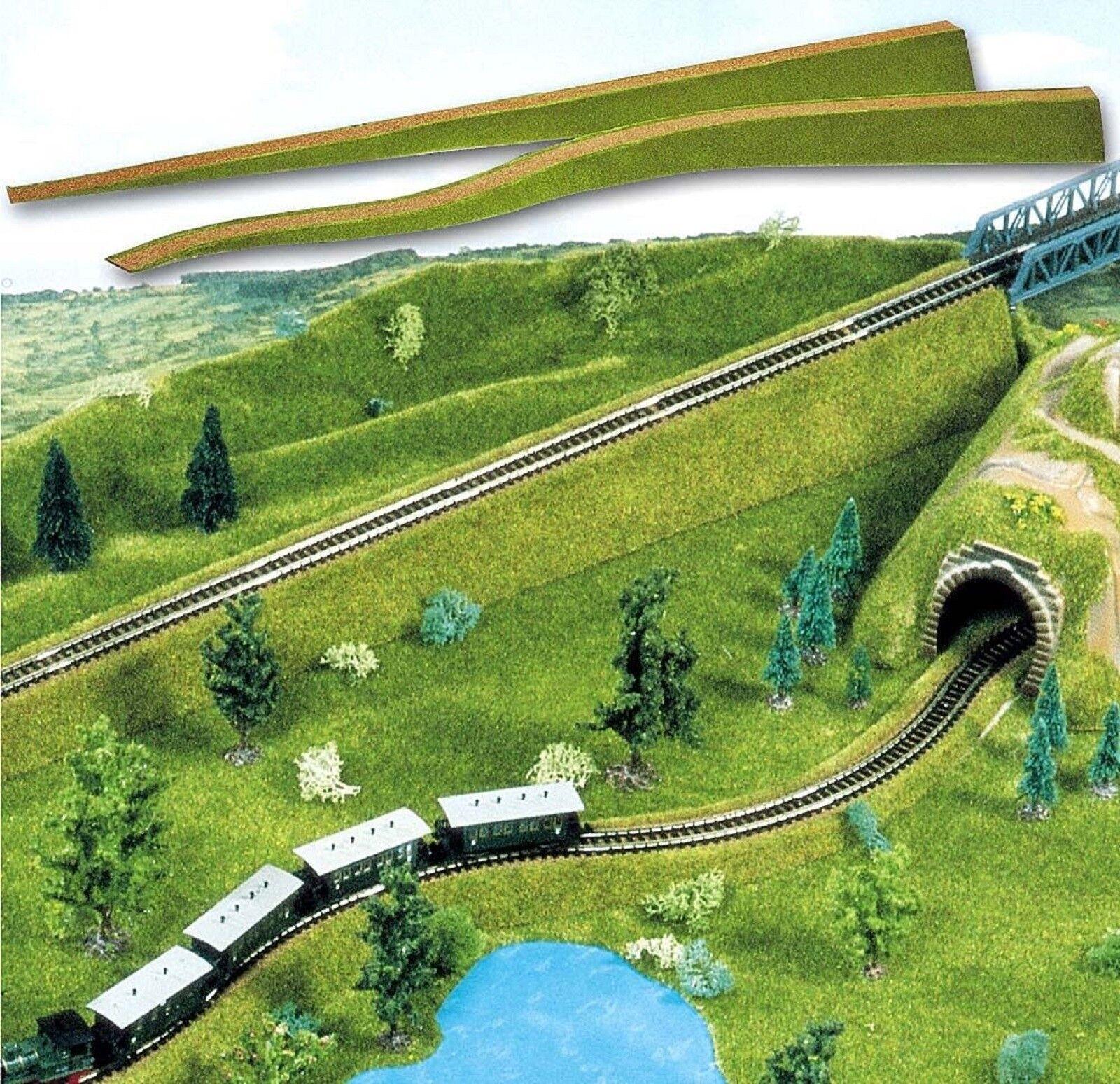 ( m) Busch 3330 h0, 2 pezzi flessibile relativi svincoli, ferroviario diga vialetto, 137 cm