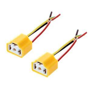 SODIAL-R-Voiture-Auto-Phare-Connecteur-Fiche-H4-Lampe-Ampoule-douille-2-Pc-E8H4