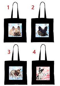 Französisch Bulldog french bulldog Einkaufstasche Tasche shopping bag groß FBD1