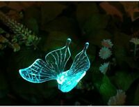 Solar Powered Butterfly Outdoor Garden Stake Led Light 2 Piece