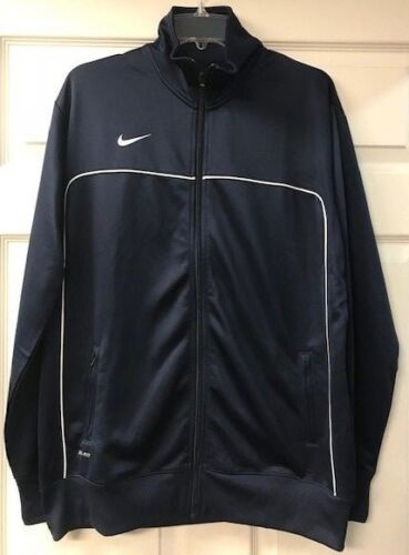 Dri Women's Polyester 100 up Brand Navy Nike Fit New hvid Zip Jacket Classic dvwxqt