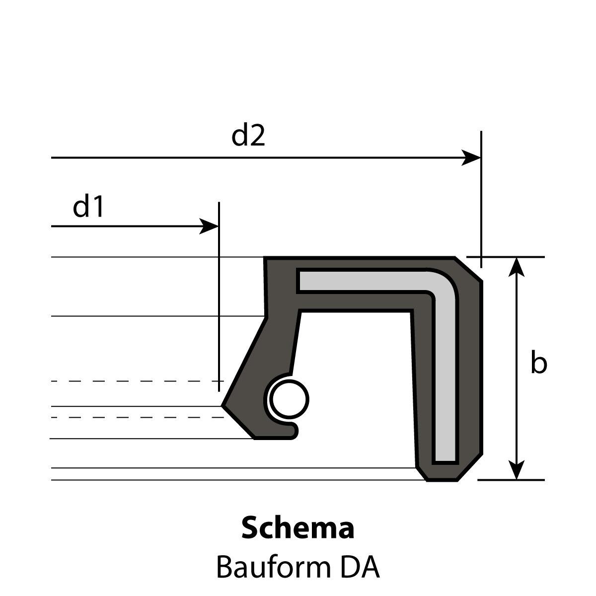 1 Radial-Wellendichtring 36 x 47 x 7 mm DASL NBR 70