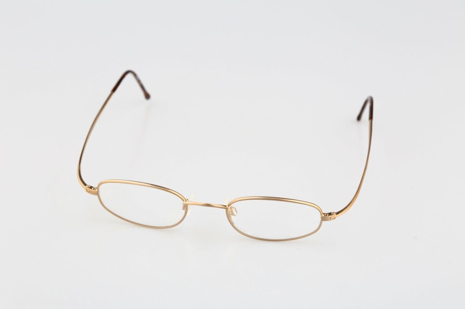 Silhouette M 7306 30 V 6051, Vintage 90s gold small rectangle glasses frames