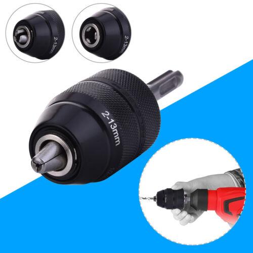 Schnellspannbohrfutter mit SDS Adapter Bohrfutter für Bohrer 2mm bis 13mm Neu DE