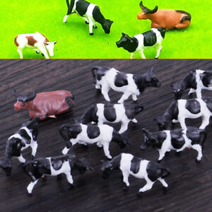10xHO-Gauge-Model-1-87-Farm-Multi-Cows-Animal-Railway-Building-Layout-Sand-Table