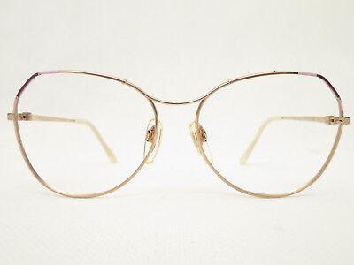 Entusiasta Anni '80 Vintage Occhiali Montatura Atrio Donna Panto 56□16 Oro Xl Tendenza 80 Rimozione Dell'Ostruzione