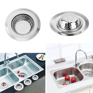 2x Stainless Steel Kitchen Sink Strainer Waste Plug Drain Stopper ...