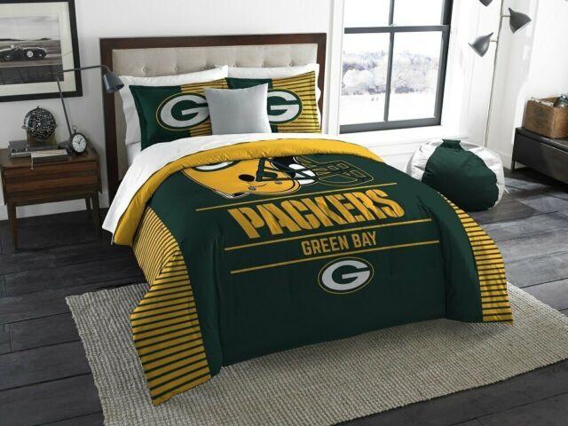 Green Bay Packers Comforter Set Bedding, Green Bay Bedding Queen