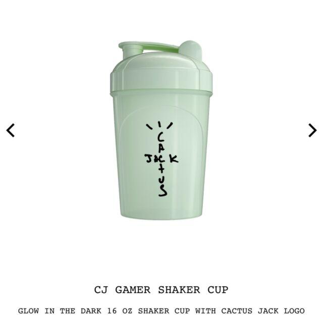 NEW Travis Scott Cactus Jack GID Glow Dark Gamer Shaker Cup Sports Energy Drink