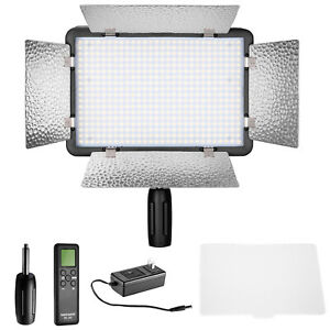 Details about Neewer Remote Control 500 LED Dimmable Video Light with  Diffuser for Canon Nikon