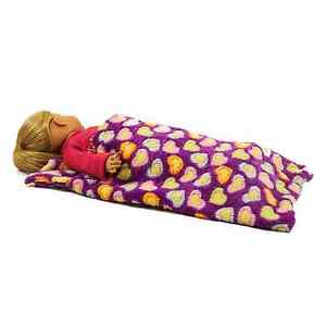 18-034-Doll-PURPLE-SLEEPING-BAG-Fits-American-Girl-Clothes-Clothing-amp-Accessories