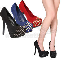 Breckelle's Marisa-32w Women Spike Studded Toe Cap Platform Pump Heels Blush