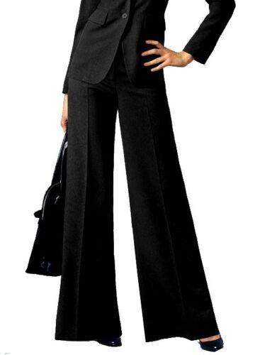 Laura Scott Hose mit Gürtel Gr.34 NEU Damen Schwarz Anzugshose L32 Marlene Weit