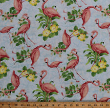 Cotton Mushrooms Birds Snails Flowers Nature Animals Fabric Print BTY D368.36