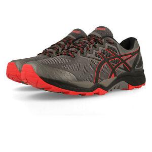 Asics-Gel-Pour-Homme-FujiTrabuco-6-Trail-Chaussures-De-Course-Baskets-Sneakers-Gris-Sports