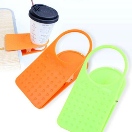 Creative Office Desk Table Drink Water Coffee Mug Clip On Cup Holder Camping