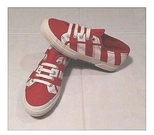 Superga bianche rosse modello 2750 NUOVE collezione rarit tg 37 con scatola