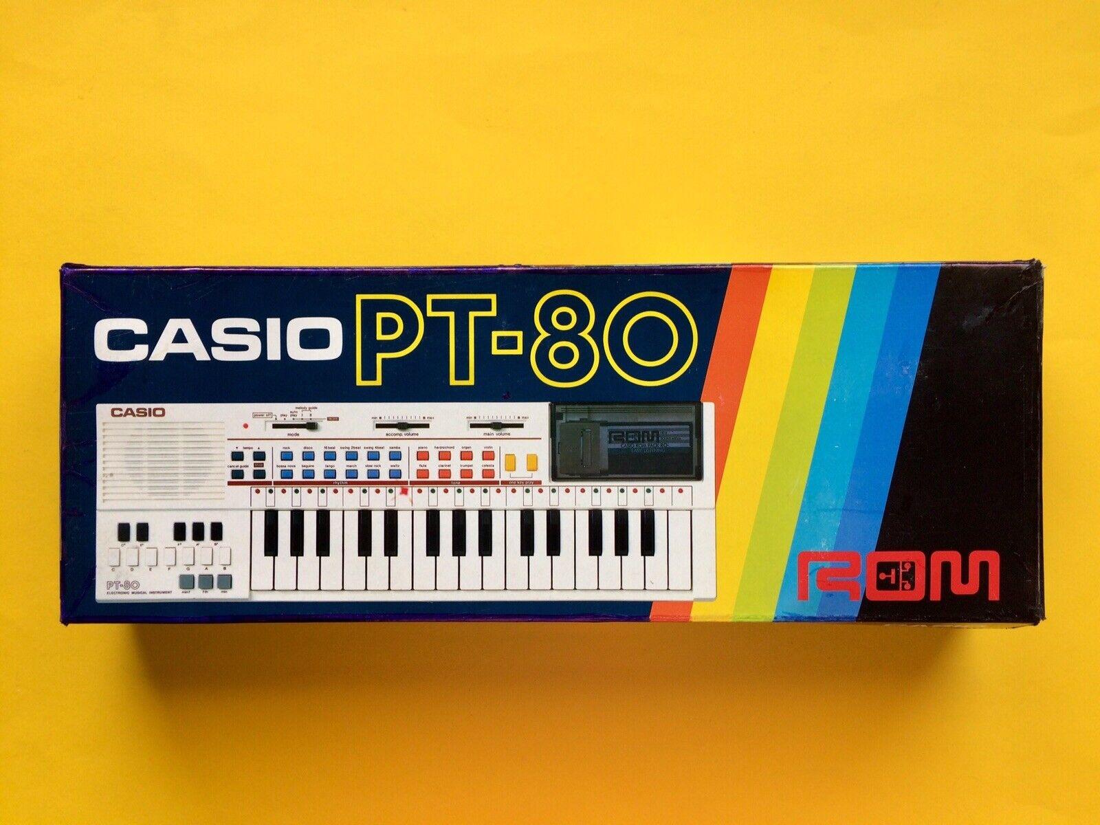 CASIO PT 80 ROM Electronic SyntheGrößer E Piano OVP Box KEYBOARD Retro Computer 1