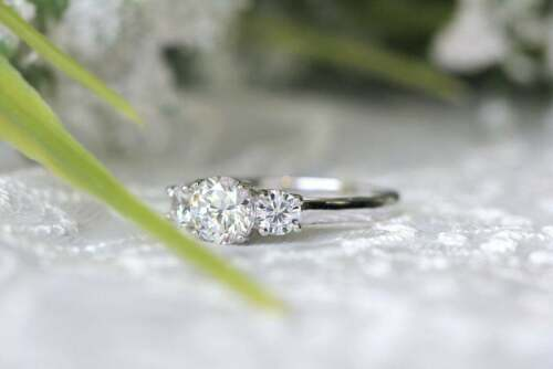 3 ct Round Cut Diamond 14k White Gold Over Three Stone Engagement Wedding Ring