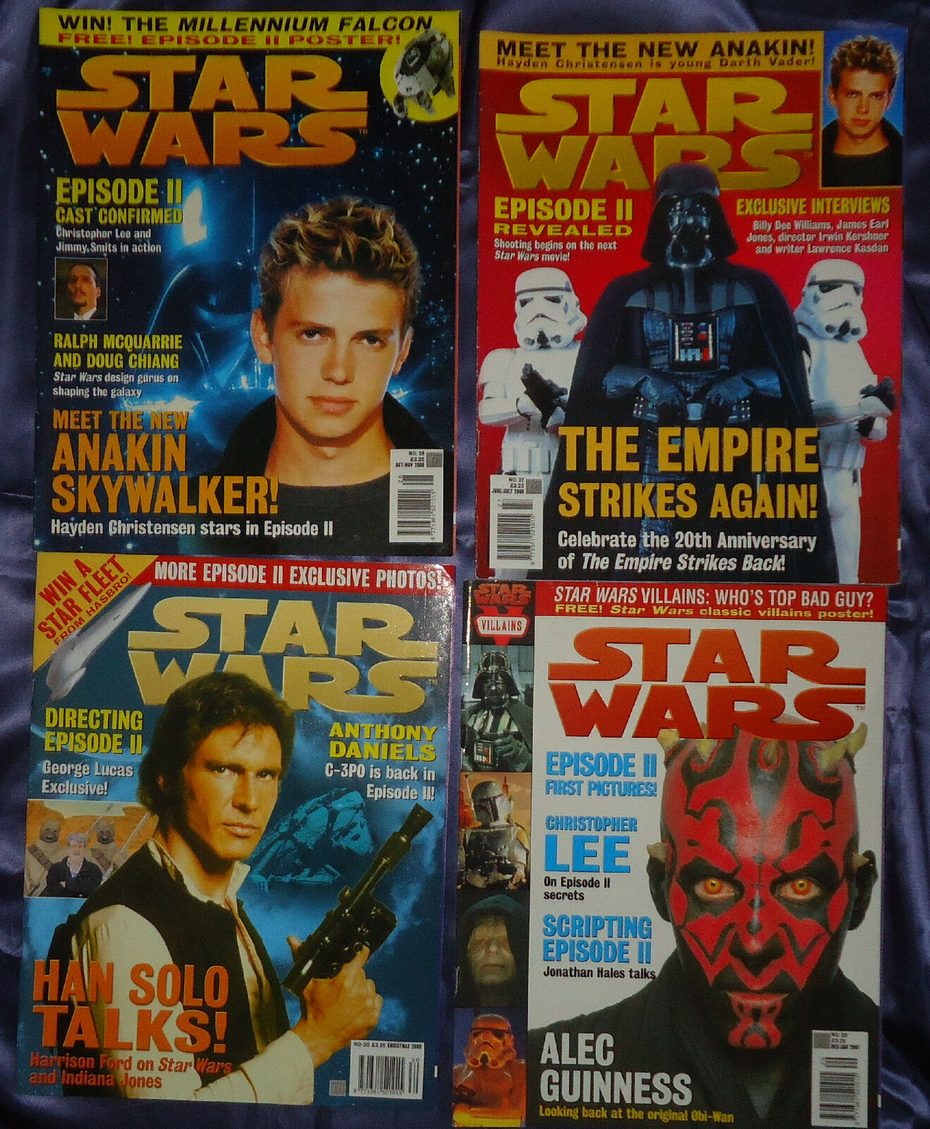 Star Wars Official magazine by Titan. Issues 24-30, 2000, 8 8 8 mags, UK seller 677345