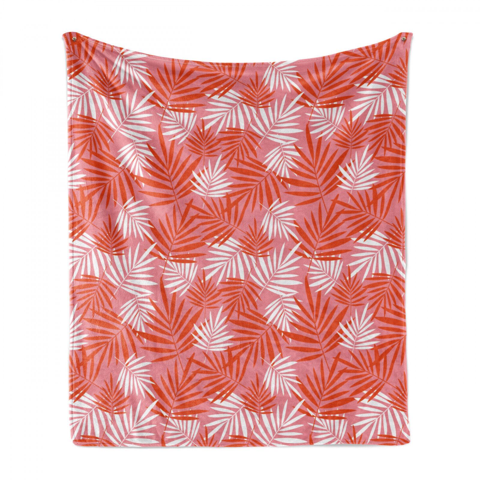 Exotisch Weich Flanell Fleece Decke Vibrant Tropical Palmblätter