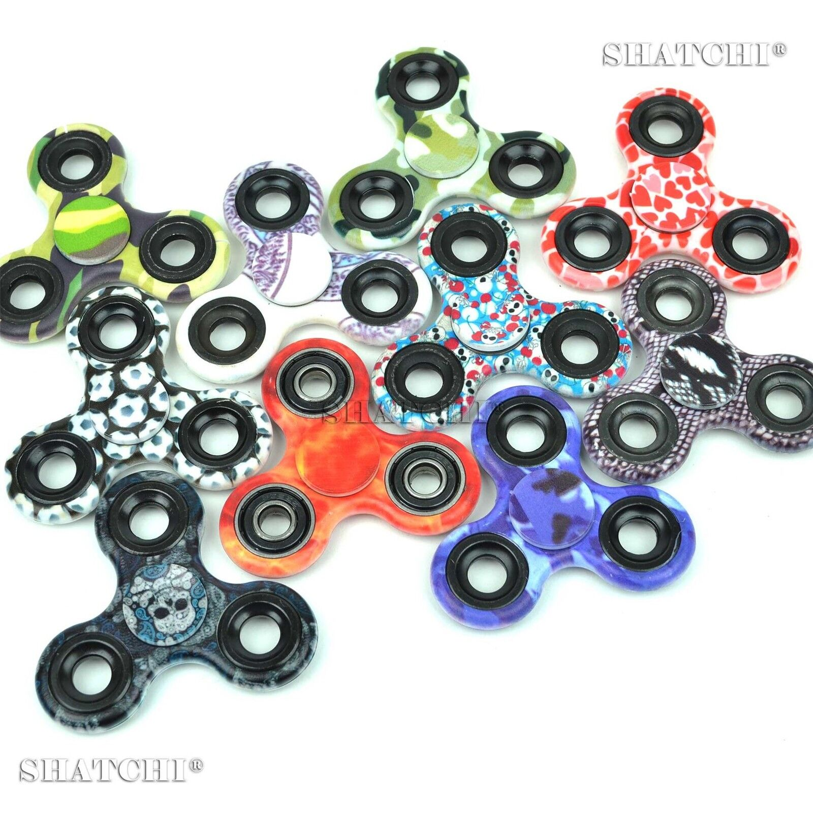 Camouflage Printed Camo Fidget Spinner Hand Toy Assorted CHEAPEST ON EBAY uk