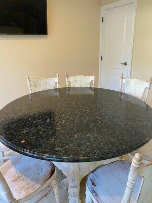 Round Granite Kitchen Table About 60 Diameter Ebay