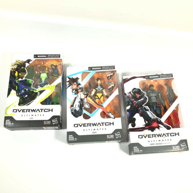 Overwatch Ultimates Series Tracer Lucio Reaper Action Figure Lot Blizzard Hasbro