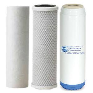 Sediment/Fluor<wbr/>ide/Arsenic/Ca<wbr/>rbon Block Filters  Upgrade or Refill Systems