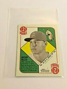 2015-Heritage-039-51-Collection-Baseball-Mini-Green-Back-Anthony-Rizzo-Cubs