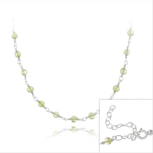 45.7CM Péridot Chaîne de perles collier