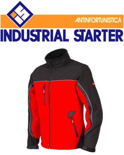 Redshell Nero In 04516 giacca rosso E Softshell starter ind Giubbotto giubbino O7SxqSE