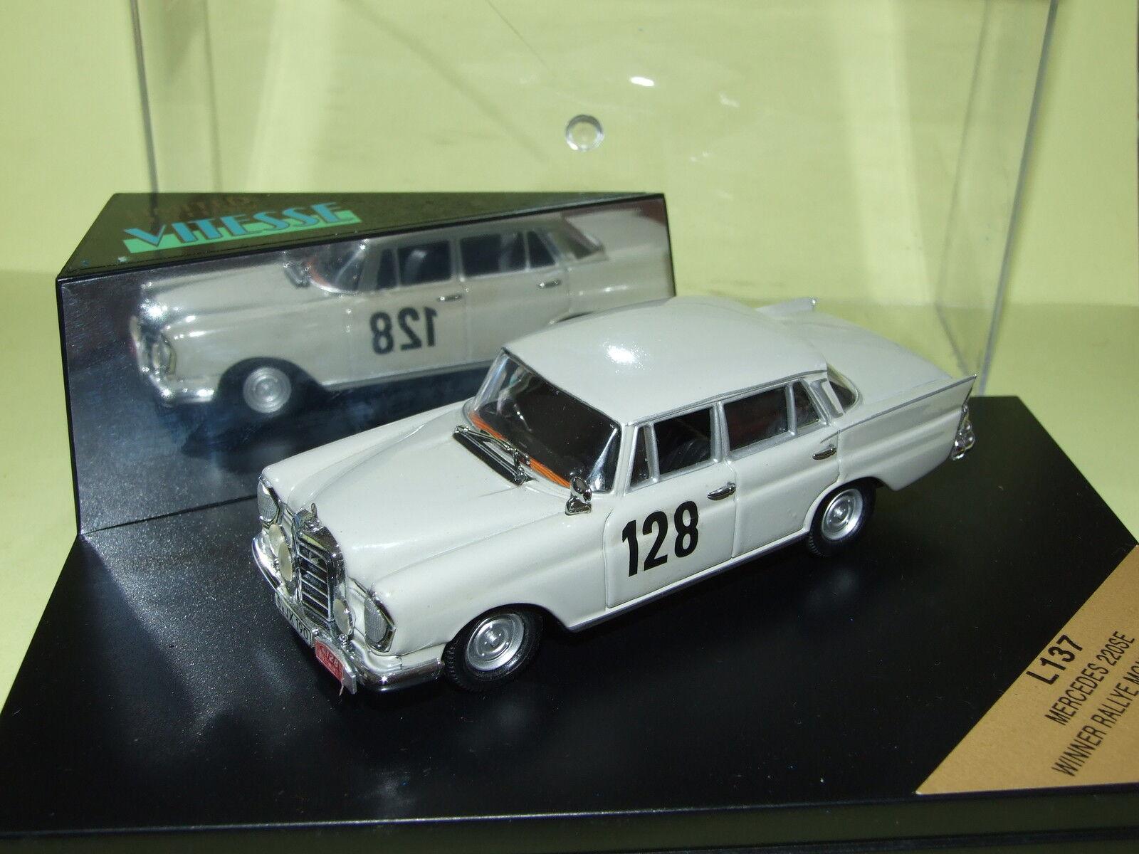 MERCEDES 220 SE GAGNANTE Monte Carlo 1960    Vitesse L137 98dd3d