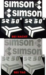 Details Zu Reflektierend Aufkleber Schriftzug Simson Sr50b Sr 50 B Schwalbe Ddr Weiß An1748