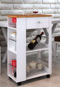 k chenwagen flaschenhalter k chenschrank rollwagen bambus. Black Bedroom Furniture Sets. Home Design Ideas
