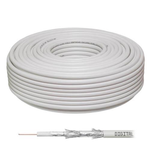 Transmedia KHC203-50L Kabel 50m Antennenkabel Koaxialkabel 4-fach Ultra UHD 4K