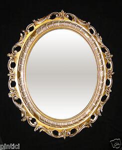 wandspiegel spiegel gold wei jugendstil rokoko oval antik 58x68 barock 41 db ebay. Black Bedroom Furniture Sets. Home Design Ideas