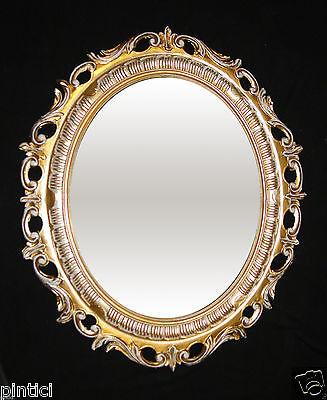 Herzhaft Bilderrahmen Groß Oval Gold-weiß Mit Schutzglas Barock Antik 68x58 Fotorahmen Bereitstellung Von Annehmlichkeiten FüR Die Menschen; Das Leben FüR Die BevöLkerung Einfacher Machen Spiegel Möbel & Wohnen