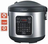 Edelstahl Schnellkochtopf Kochautomat Multikocher 5 Liter Reiskocher Cooker Neu